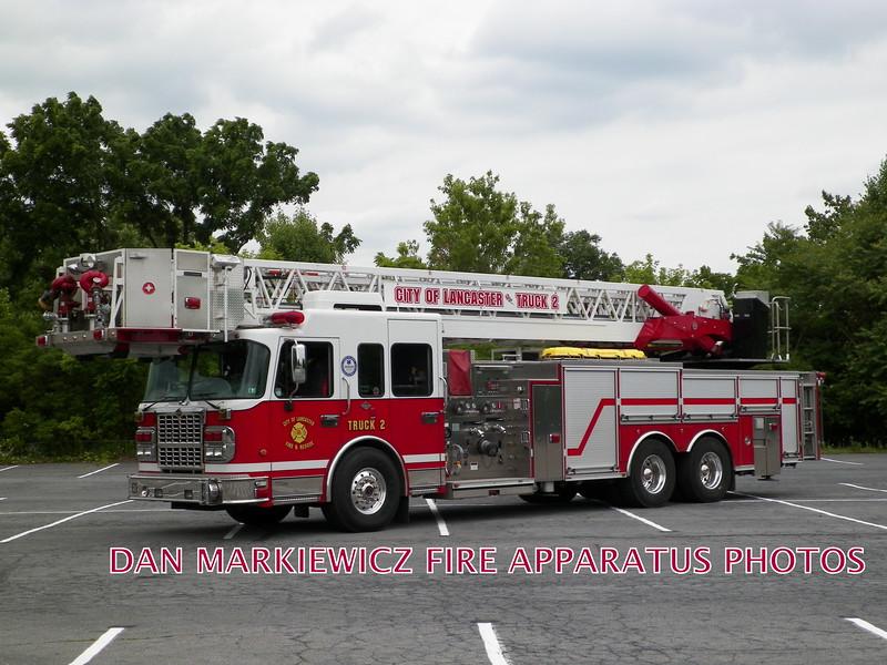 LANCASTER CITY FIRE DEPT. TRUCK 2 2009 SPARTAN/CRIMSON LADDER TOWER