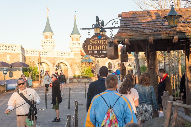 Front of Line at Seven Dwarfs Mine Train - Magic Kingdom Walt Disney World