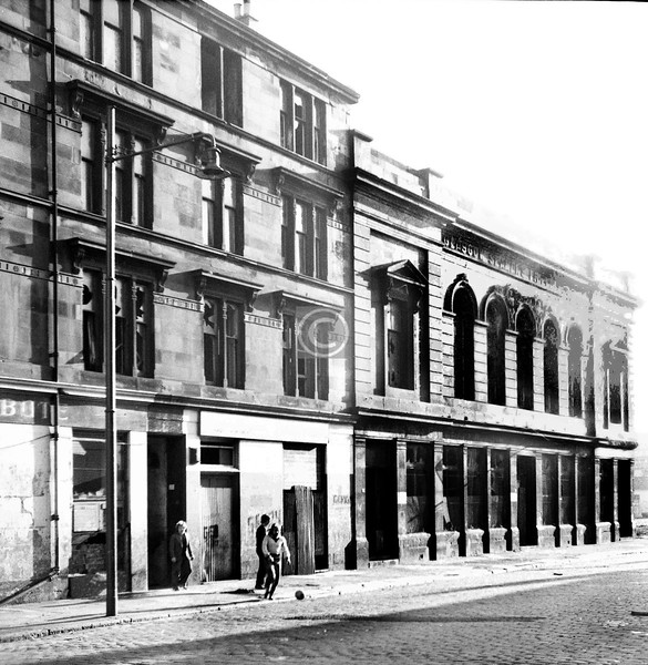 Eaglesham St, west side at Govan Rd.  The Glasgow Seamen's Bethel.     February 1974