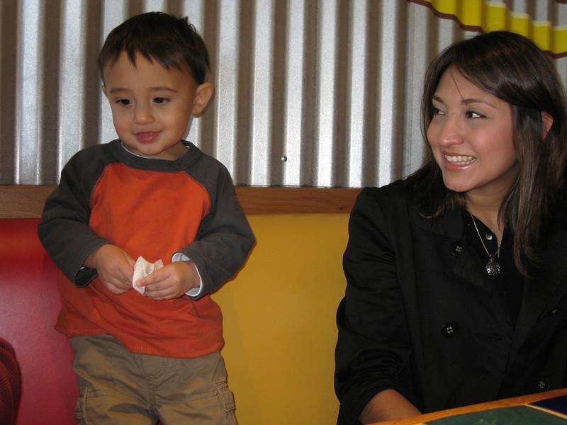 Christian and Maricruz at a Casa Grande restaurant
