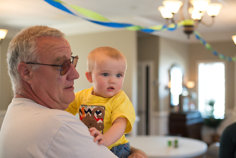 First Birthday Party at Monroe Church of Christ - Breyden and Grandpa