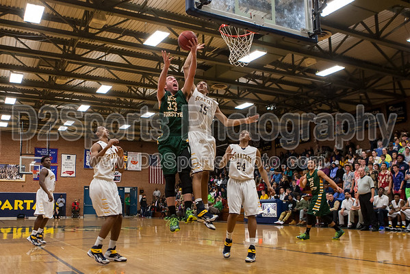 Mount Tabor Spartans vs West Forsyth Titans Men's Varsity Basketball 12/12/2014