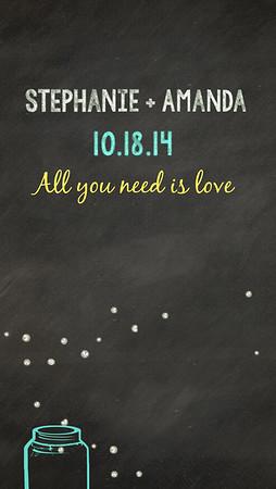Stephanie and Amanda's Wedding 10-18-14