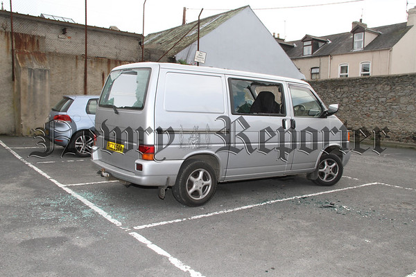 Vandals attack a van in Thomas Street Car Park