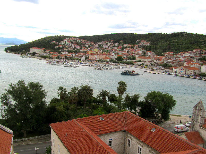 View of Trogir from top of church tower