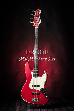 Fender Red Jazz Bass 1965 in Color