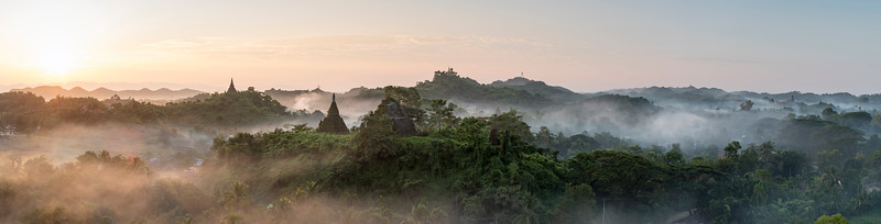 Sunrise in Mrauk U, Myanmar