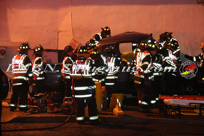 North Babylon Fire Co. Car vs Building w/ entrapment 683 W Sunrise Hwy 2-29-12