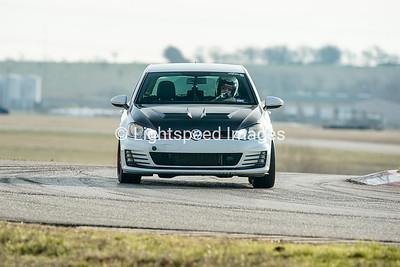 White/Black VW Golf GTI
