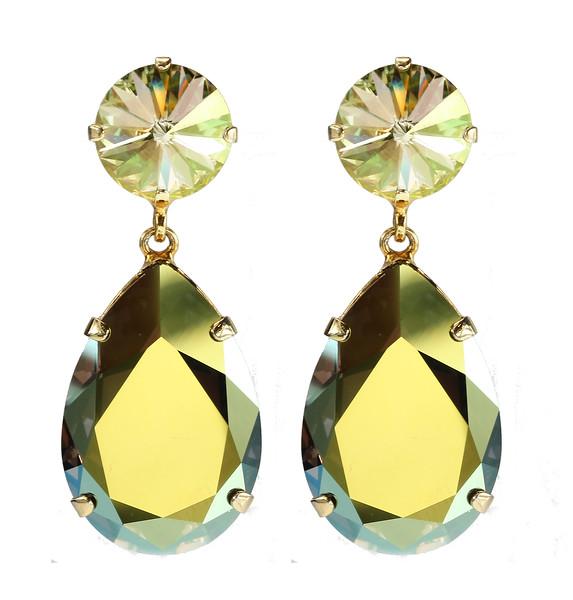 Perfect Drop Earrings / Vitrail Light