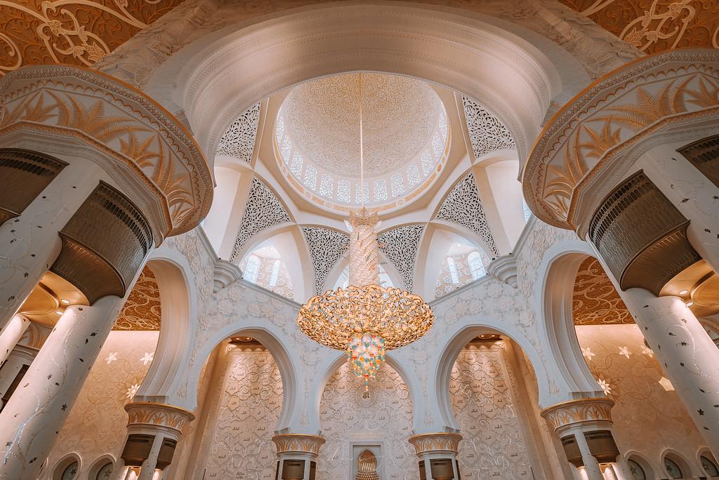 阿布達比大清真寺 Sheikh Zayed Grand Mosque 謝赫扎耶德清真寺介紹與旅遊建議 by Wilhelm Chang 張威廉