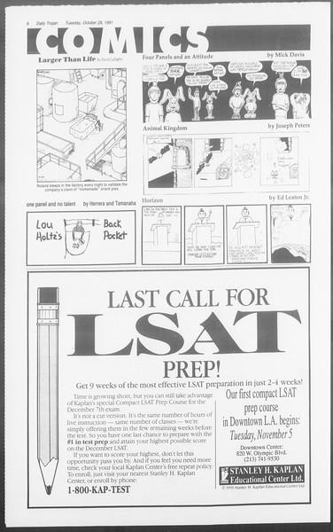 Daily Trojan, Vol. 116, No. 41, October 29, 1991
