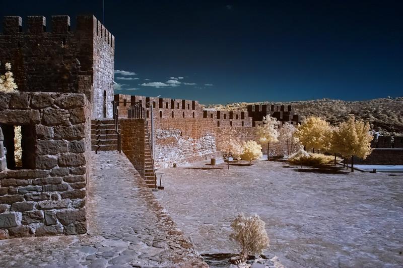Infračervené nádvoří hradu Silves