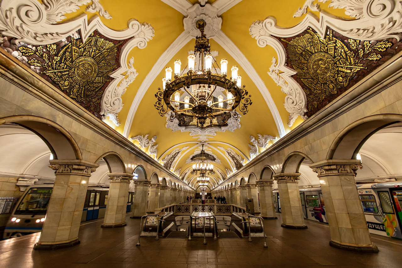 Moscow Metro Stations are a must see in Moscow