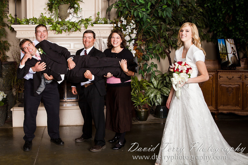 Wedding reception at Western Garden Center Atrium  by David Terry Photography