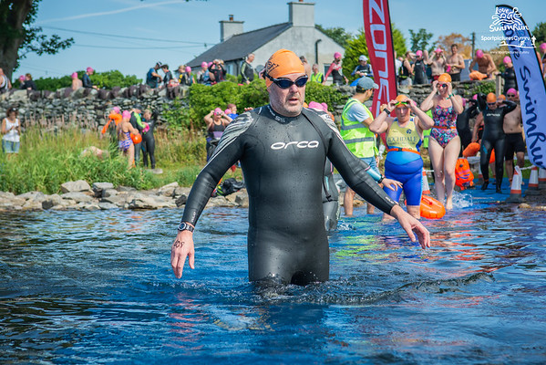 Big Welsh Swim  - Orange Hats at Penllyn