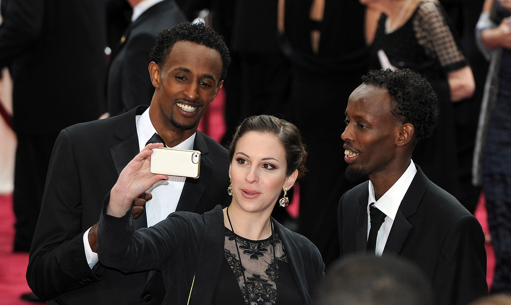 . Faysal Ahmed and Barkhad Abdi  attend the 86th Academy Awards at the Dolby Theatre in Hollywood, California on Sunday March 2, 2014 (Photo by John McCoy / Los Angeles Daily News)