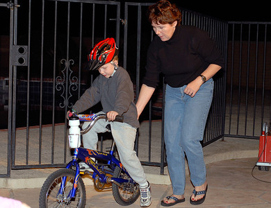 Connor Learning How to Ride a Bike 3.31.2006