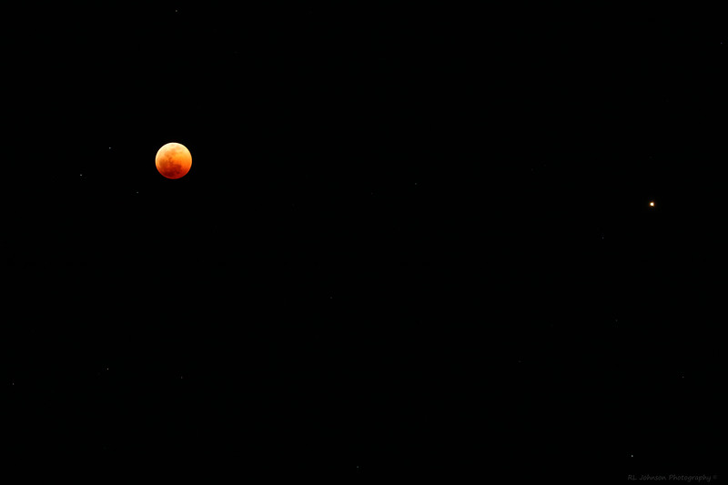 Moon with Mars