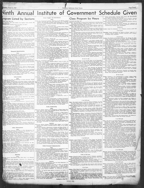 Southern California Daily Trojan: U.S.C. Institute of Government, Vol. 4, No. 1, June 14, 1937