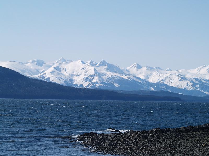Chilkoot Range from North Douglas Island