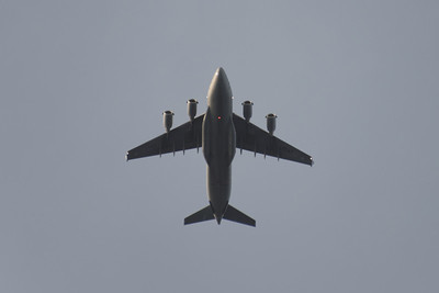 C17, Learjet & P3 Over our House - April 20, 2014
