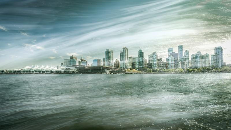 Vancouver Skyline - Double Exposure II