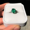 3.08ct Vintage Emerald Solitaire, by Tiffany & Co 18