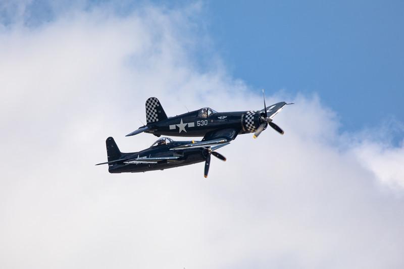 Corsair and Grumman Bearcat