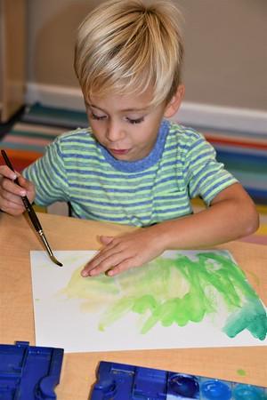 Exploring the Colors of Fall in Pre-K Art