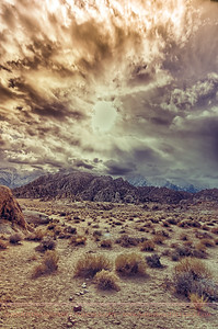 Otherworldly rocks and desert in the Alabama Hills, near Bishop, CA