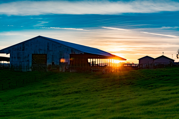 Barn At Sunset 2