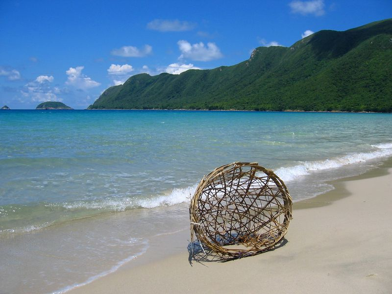 basket on the beach