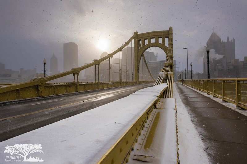 Bi-Polar Pittsburgh Winter Sunrise North Shore Clemente Bridge c web srgb.jpg