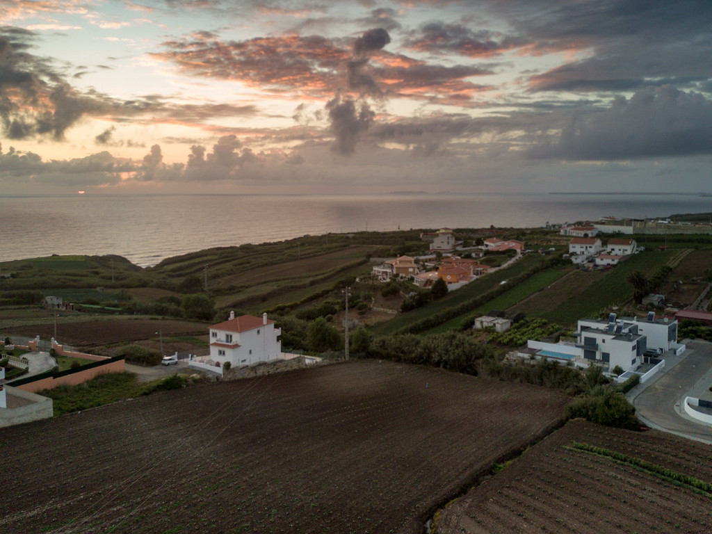 Sunset on the Atlantic Ocean in Portugal