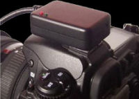 GPS device atop a DSLR