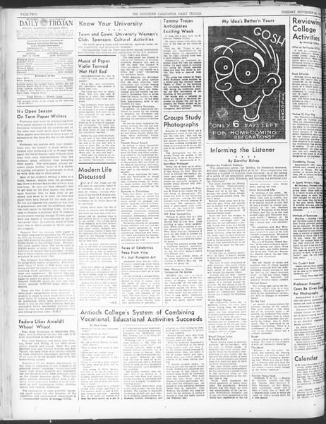Daily Trojan, Vol. 30, No. 46, November 22, 1938