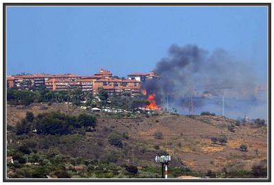 Views of a fire.
