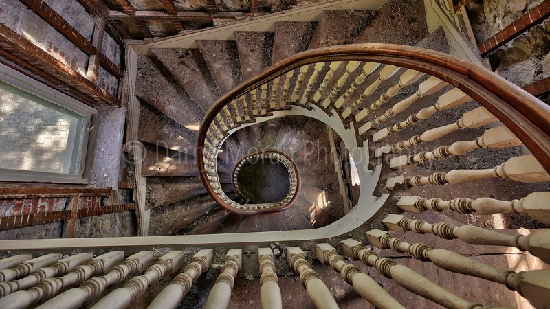 Abandoned Convent Spiral Staircase NY 2