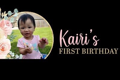 Kairi's First Birthday 6/6/21