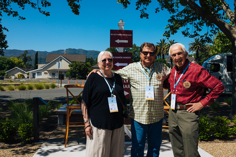 Napa Valley Vintners Past Board Chairs John  Skupny and Reverdy Johnson at the 2019 Napa Valley Barrel Auction