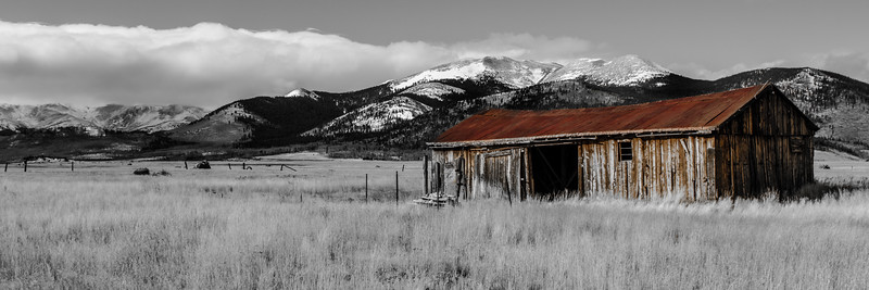 Cline Ranch Barn  on a Cold Day