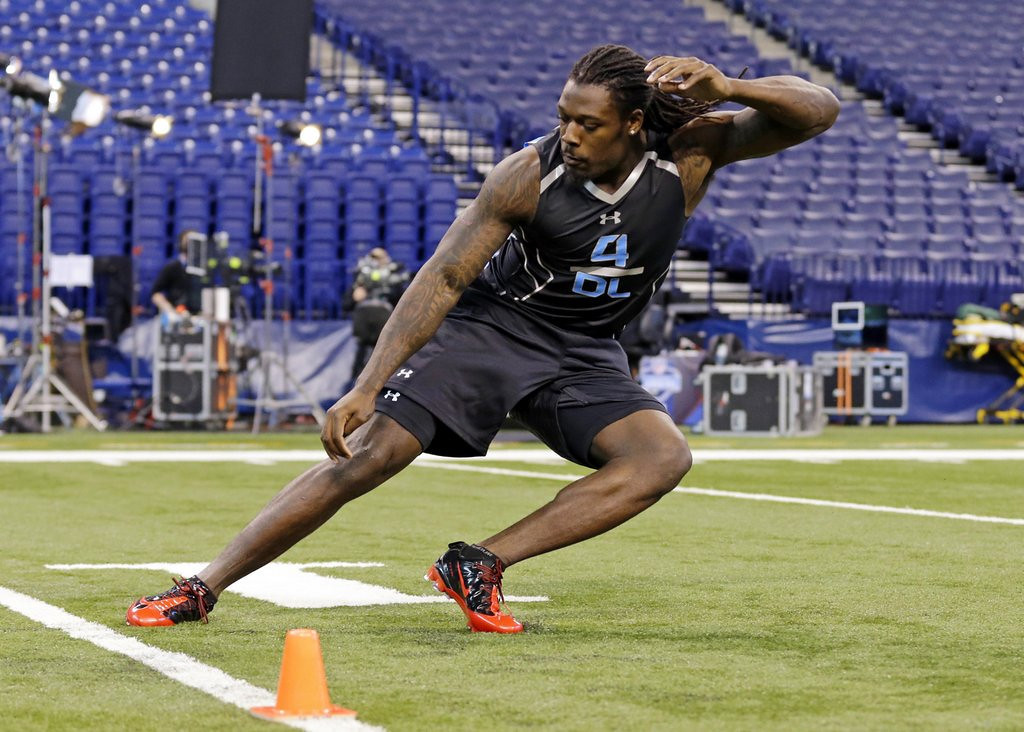 . <p><b>1. Houston: Jadeveon Clowney, DE, South Carolina. </b> <p>Johnny Manziel might get to hang out in a private McDonald\'s room with LeBron James, but he\'s uninvited by the Texans as they look to instead go with a defensive stud. (AP Photo/Michael Conroy, File)