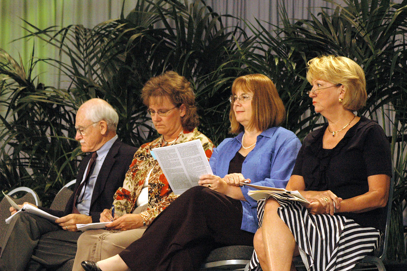"""Social Statement on Education, """"Our Calling in Education"""": - Dr. Paul Dovre, co-chair of the task force on education - Christi Lines, co-chair of the task force on education - The Rev. Rebecca Larson, executive director, ELCA Church in Society - Judy Biffle, ELCA Church Councilmember, Houston, Texas"""