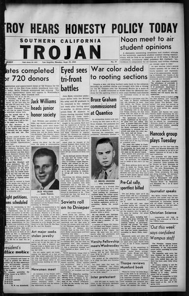 Southern California Trojan, Vol. 35, No. 37, September 27, 1943