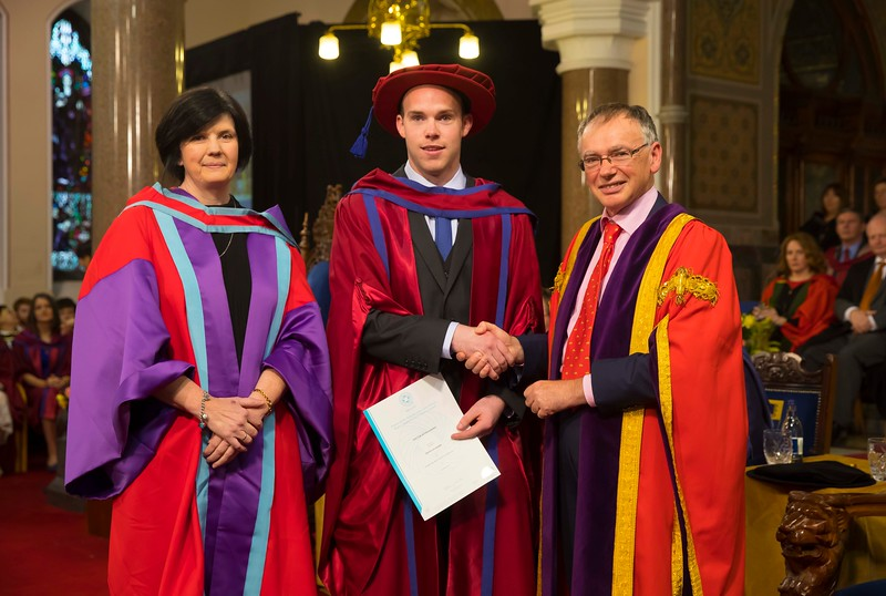03/11/2016. Waterford Institute of Technology (WIT) Conferring Ceremonies November 2016:  Pictured is David Aylward, Mullinavat, Co. Kilkenny who was conferred a PhD. Picture: Patrick Browne