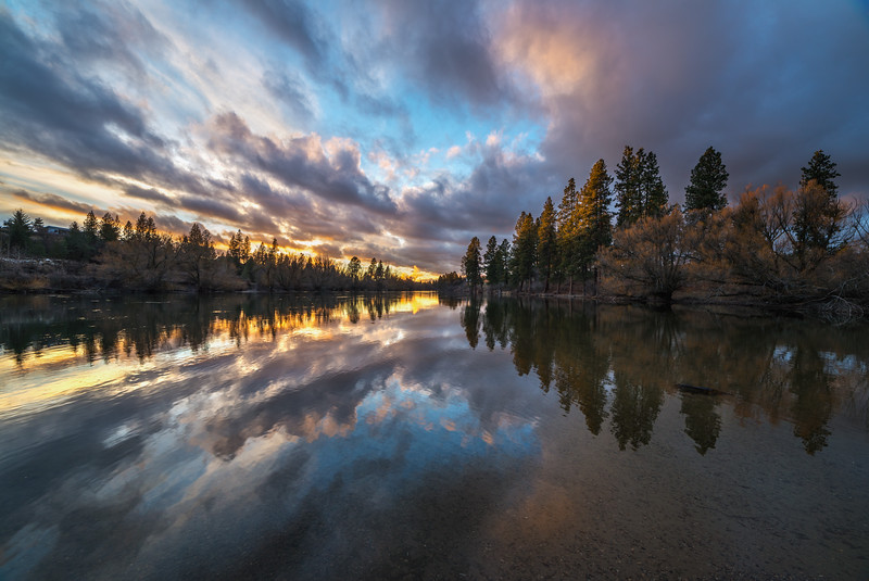 Spokane River Cloud Reflections
