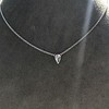 0.48ct 18kt White Gold Rose Cut Bezel Pendant 15