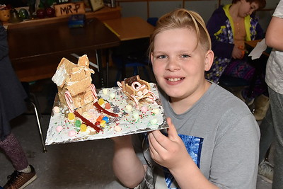 Check Out Fifth Grade Gingerbread Houses photos by Gary Baker