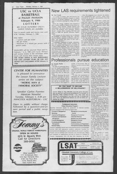 Daily Trojan, Vol. 88, No. 1, February 04, 1980